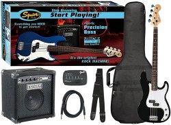 FENDER SQUIER AFFINITY PRECISION BASS&RUMBLE 15 AMP - BLACK